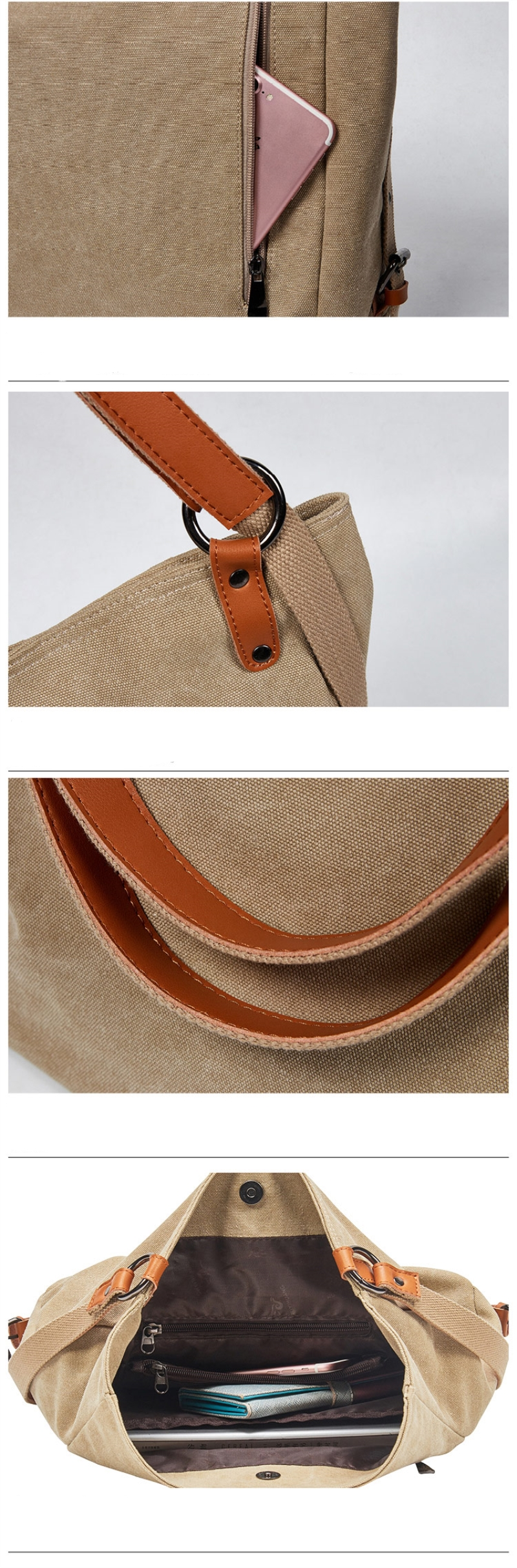 Brand Canvas Tote Bag Women Handbags Female Designer Large Capacity Leisure Shoulder Bags Big Travel Bags Bolsas