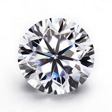 Vvs certified ronde briljant geslepen moissanite kleur DEF 6.5mm 1ct lab grown diamond moissanite
