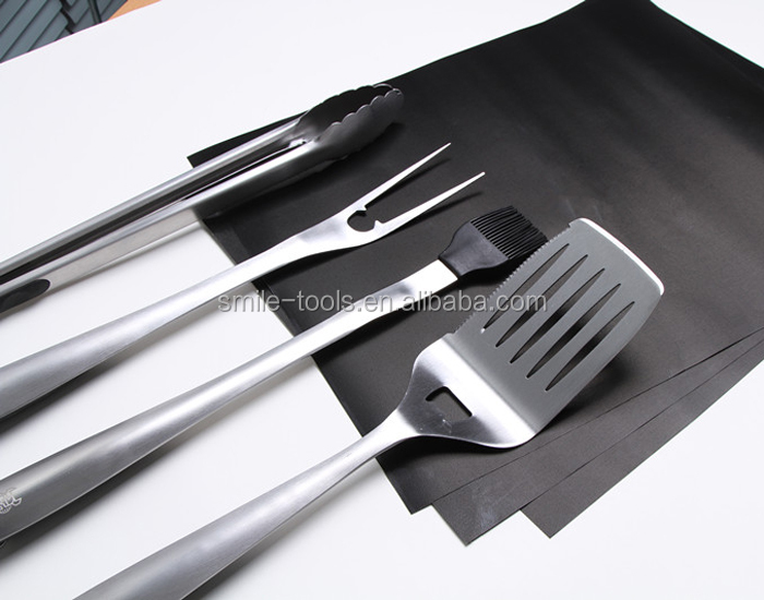 Heavy Duty BBQ Grill Tools and Accessories Outdoor Stainless Steel Barbecue Grill Tools Set