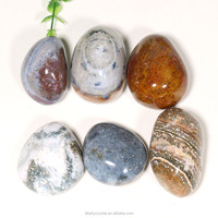 Bulk Polished Natural Ocean Jasper PalmStone Tumbled Stones