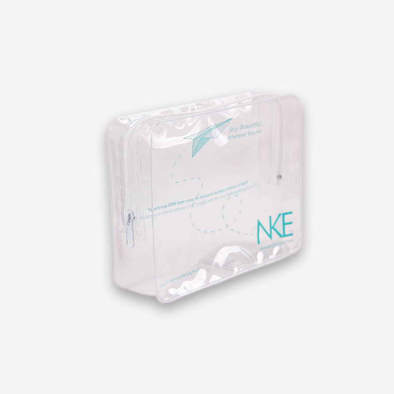 Slider high quality transparent clear pvc bag <strong>cosmetic</strong>