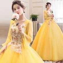 Платья Quinceanera, новинка 2020, винно-красное элегантное платье с длинным рукавом и v-образным вырезом, бальное платье для выпускного вечера, вече...(China)