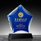 Craft Wholesale New Crystal Glass Trophy 3D Laser Engraved Handmade Craft Crystal Trophy Crystal Award