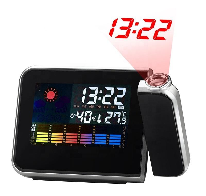 Horloge LCD avec Projection numérique, objet décoratif pour la maison, pour cadeau créatif, réveil de Table