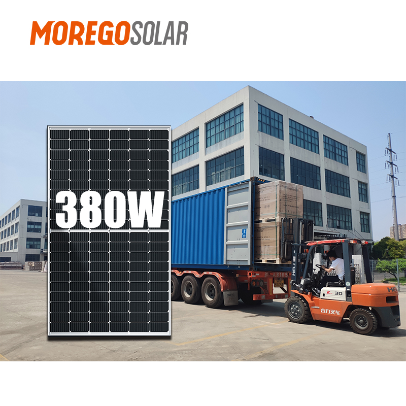 Moregosolar solar panel pv solar module panel solar costo mono PERC 350w 360w 370w 375w 380W 385W for solar panel light outdoor