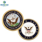 Coins Coin Supply Cheapest Customized Metal Souvenir Coins Gold Plated Challenge Coins No Minimum Silver Navy Coins