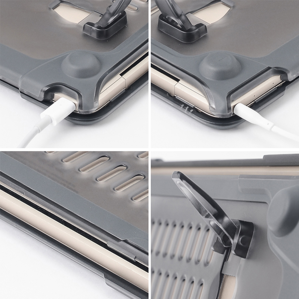 PC plastic Shock proof stander protect hard case for Macbook pro
