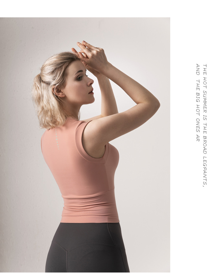 Women's running speed dry workout jacket sleeveless  yoga top