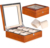 Solid Wood Watch Box with 6 Slots Display Box with a Tempering Glass Window Big Watch Suitable