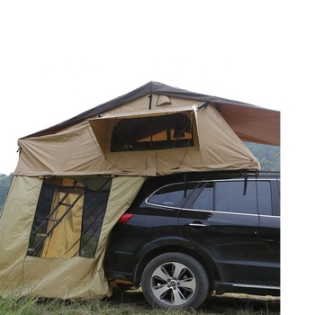 Outdoor camping tent traveling by car the soft-top canvas roof tent car tent tourism