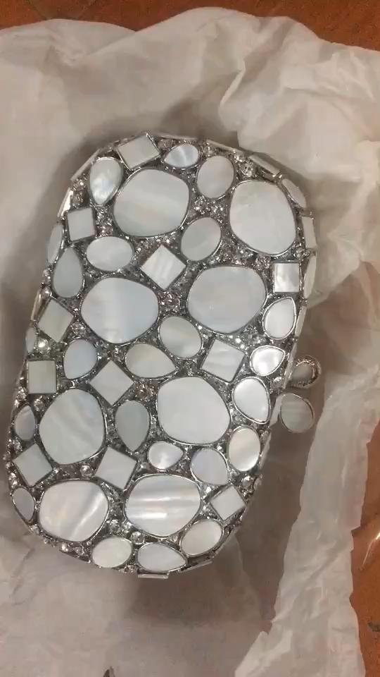 Kualitas Tinggi Kristal Emas Tas dengan Pola Batu Inmyshop Amplop dengan Berlian Imitasi