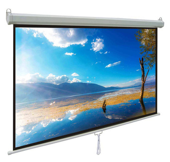 "Future Brand 2019 Hot Sale Manual Series White 120"" diagonal Manual Projection Screen"