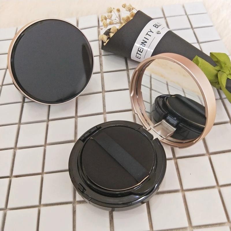 Or noir poudre pressée conteneur cosmétique boîte BB fondation coussin d'air