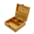 Eco-Friendly  Laser Logo Wooden Bamboo Boxes  Wood Storage Gift Box with Metal Hinge  For Home Organizing