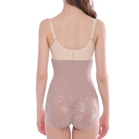 Seamless High Waist Control Thong Panties Breathable Briefs Shapewear Slimming Underwear Body Shaper Lace Briefer for Women