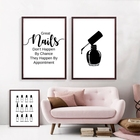 Wall Decoration Beauty Salon Art Canvas Painting Nail Salon Polish Quote Posters Modular Picture Print Tech Artist Abstract Gift