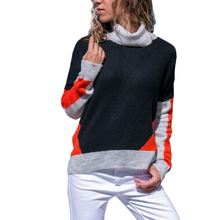 Sweat-Shirts à capuche Dames Corail Gris Colorblock Détail Noir Marine Pull Sweat Femmes v251539