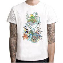Новинка, Мужская футболка с изображением Тоторо из японского аниме, студийная футболка Ghibli, футболка с изображением аниме «дух», мужская и ж...(Китай)