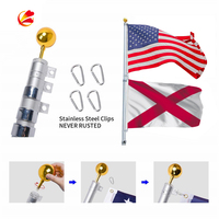 custom printing american countries hand flag banner advertising with car or garden pole usa national trump flag stand