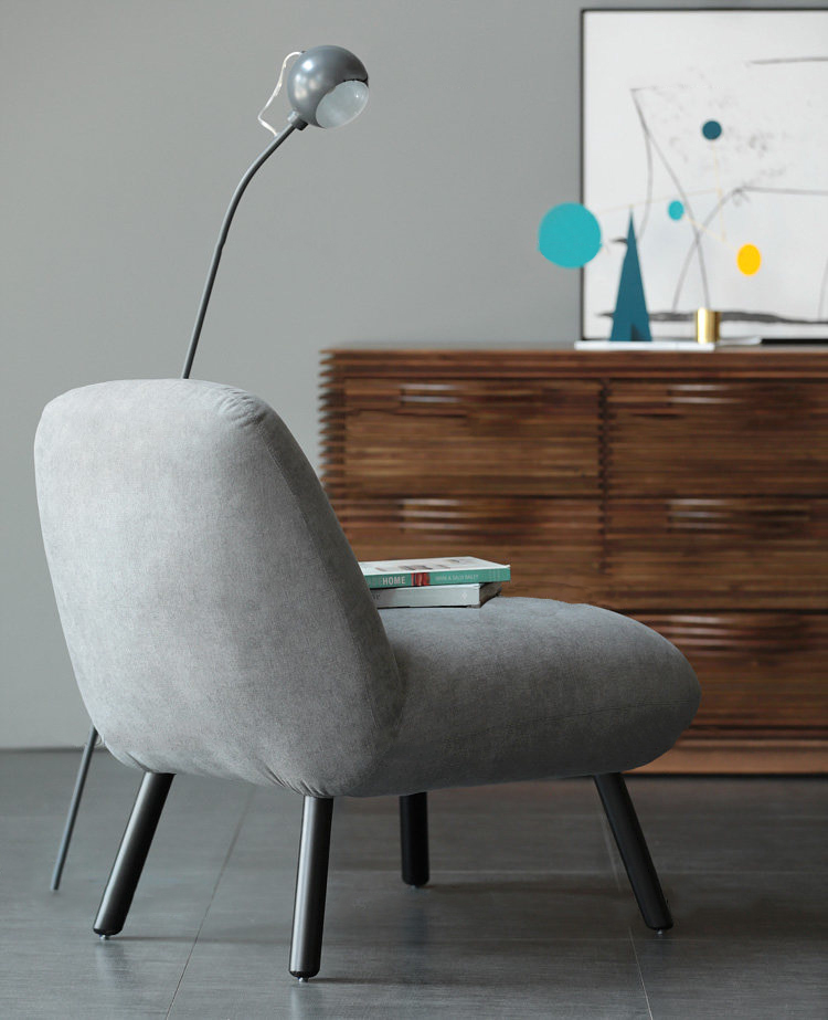 تصميم جديد فندق غرفة المعيشة واحد نسيج المقعد أريكة كرسي