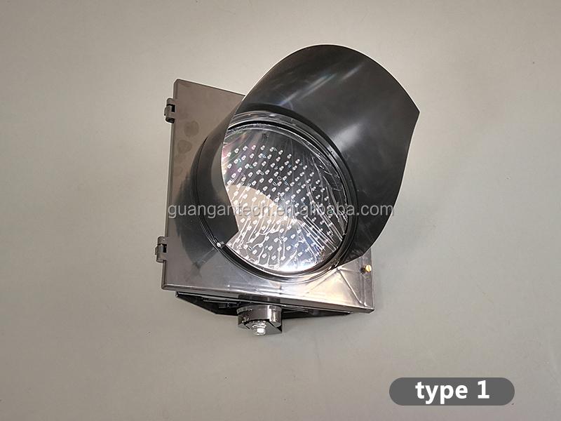 led solar strobe signal light road safety blinker light