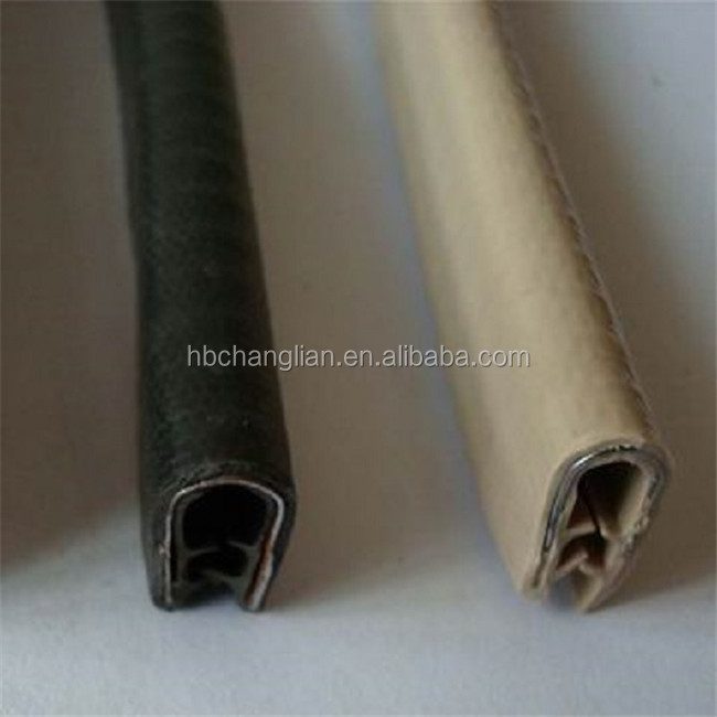 rubber u-shaped flexible protective edge trim strip with steel wire inside