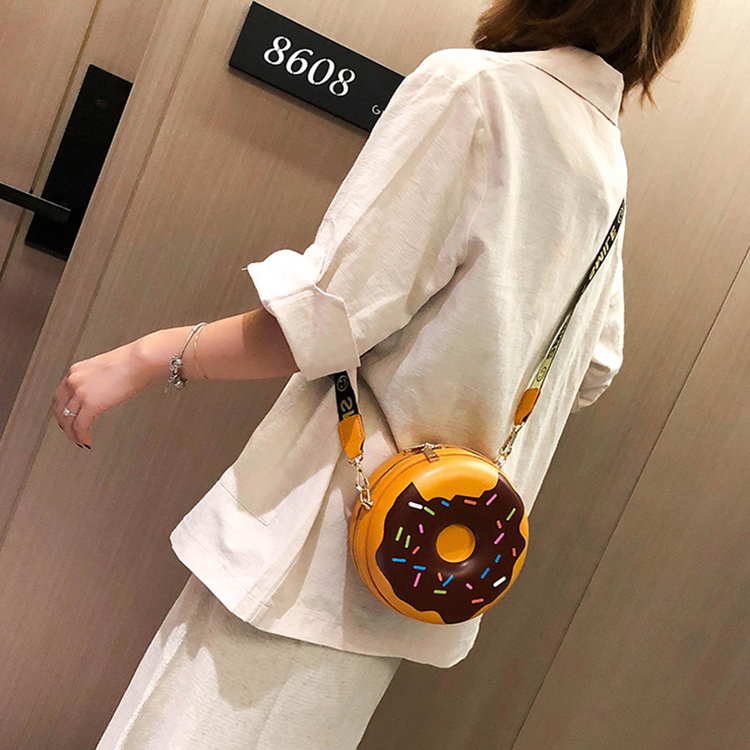 Newest korean style girl round shape cute fresh  mini crossbody bag