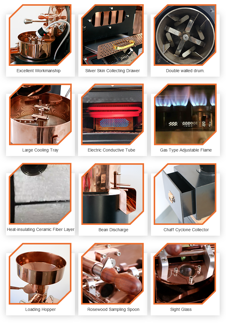 Cacao Roasting Machine Gas LPG Heaters Commercial Portable Automatic Coffee Bean Picture Utility Round 5 kilo Roasting_Machine