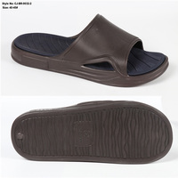 Brand casual Chinese rubber PU shoe sandals wholesale beach new PVC design of house indoor home Eva slide customer men slippers