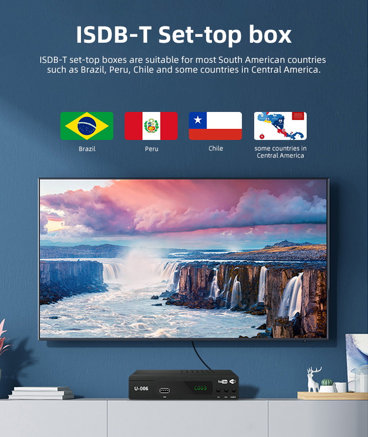 for Philippines Costa Rica isdbt  Home ISDB-T Digital TV Receiver digital tv set top box