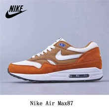 Оригинальные кроссовки Nike Air Max1 max87 Pig Eight Leather для мужчин и женщин размер 36-45 коричневый зеленый()
