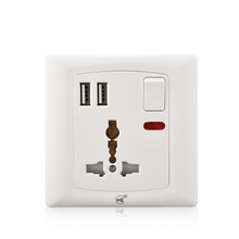 Youda Universal 220 V elektrische 3 pin <span class=keywords><strong>stecker</strong></span> 13a multi steckdose mit USB