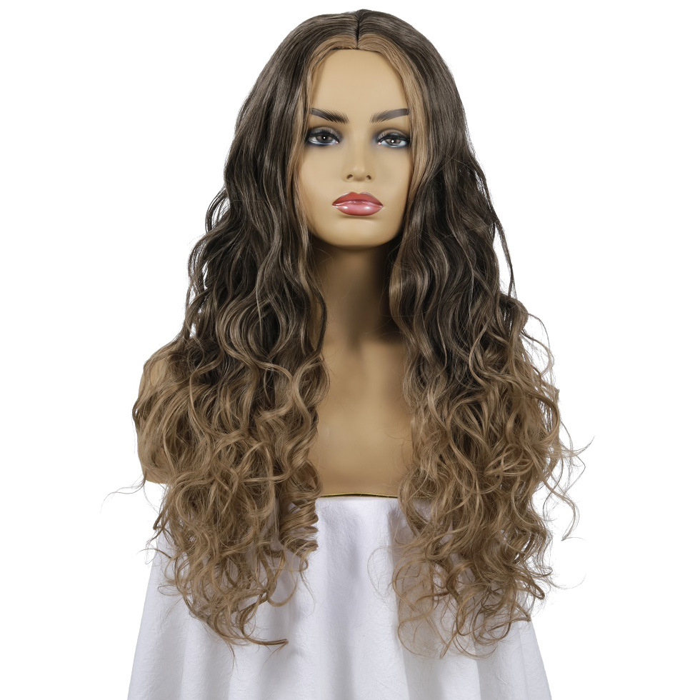 Sunflower 2019 new hot deopshipping selling Fashion Women blonde deep wave <strong>full</strong> <strong>lace</strong> <strong>synthetic</strong> hair <strong>wig</strong>
