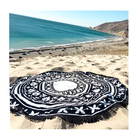 Microfiber round customised beach towel with printing for outdoor Customize your favorite patterns