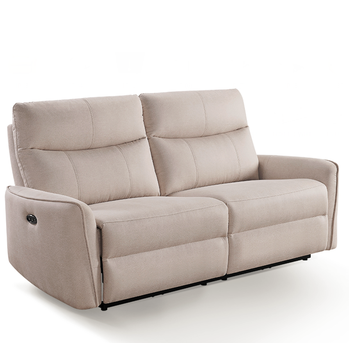 Latest sofa designs 2020 comfortable power electric 3 seat modern type fabric cover recliner sofa for living room