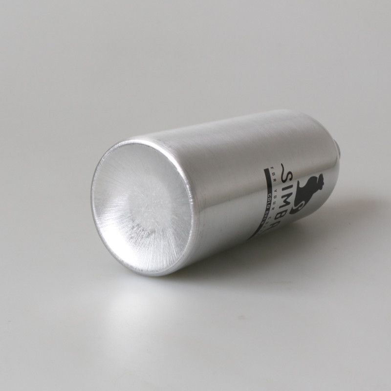 100% recyclable empty 300ml aluminium bottle with lotion pump for hand wash no printing