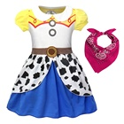 Girls Jessie Costumes Fancy Party Cowgirls Dress Up Kids Holiday Birthday Outfit Dresses 1-9 Years
