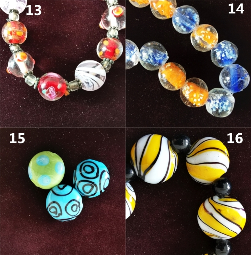 colorful handmade murano glass loose beads for necklace