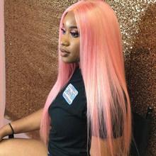 13х4 13х6 парики из натуральных волос на кружеве, цвет: синий, розовый, бордовый, парики на кружеве, Бесплатная часть, парики для черных женщин(Китай)