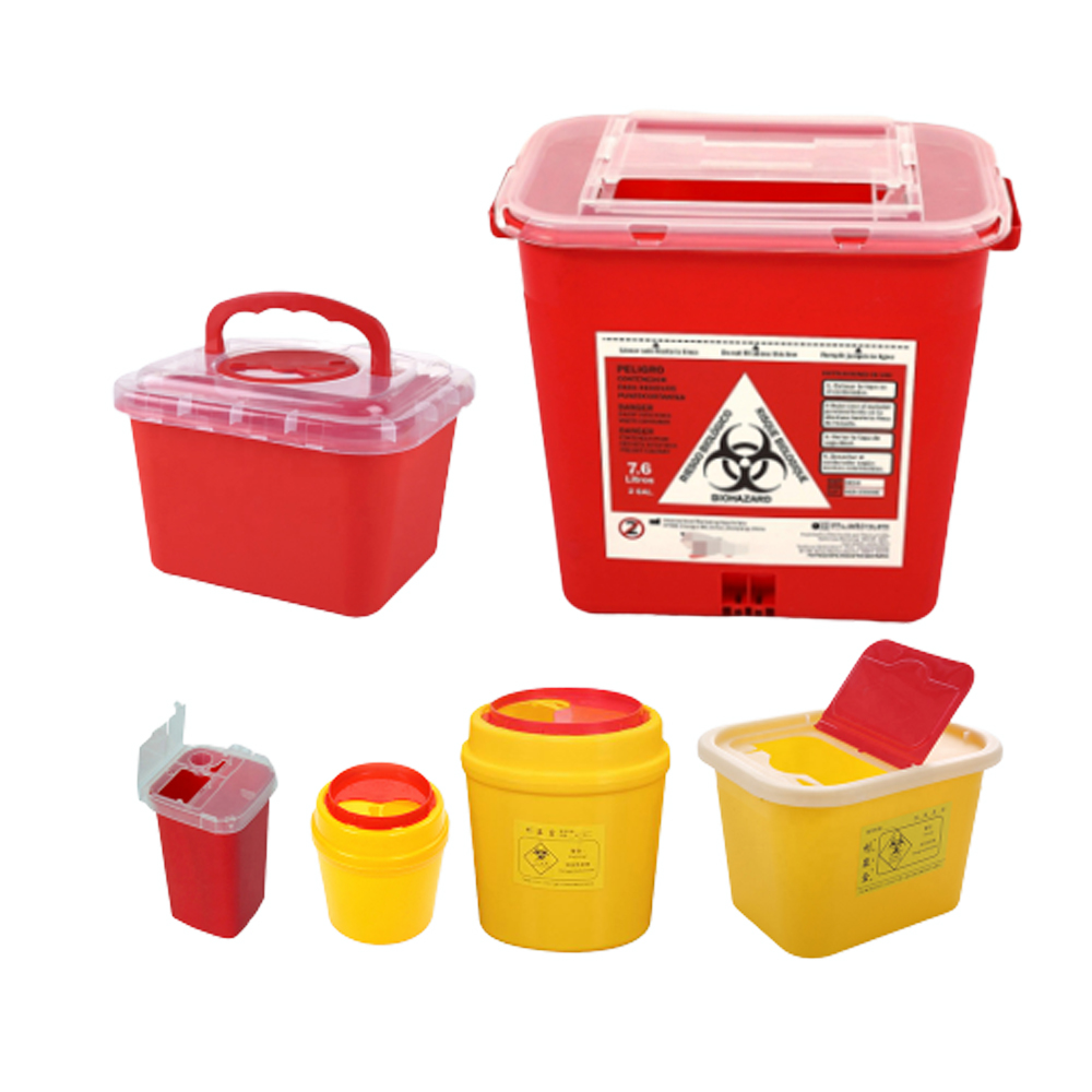 FDA Approved 5l Square Biohazard Bins Medical Waste Disposable Syringe Box 1 Litre Plastic Sharps Container