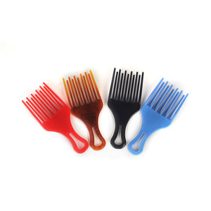 Wholesale Special Style Plastic Wide Tooth Hair Comb Small Detangle Afro Styling Comb