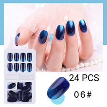 Горячая новинка, многоразовые накладные ногти, 24 шт, многоразовые накладные ногти, полное покрытие, искусственные накладные ногти, нажмите ...(Китай)
