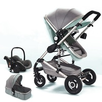 3 1 Pram Luxury Trolley Travel System Carriage Cheap One Baby Stroller