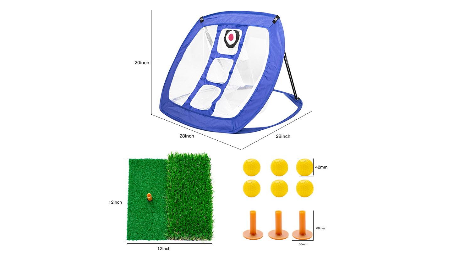 Сетка для резки клюшки для гольфа, тренировочная сетка для гольфа с мячом и ковриком