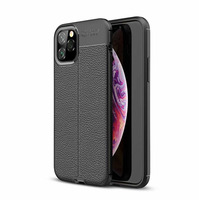 Hot Selling Lichi Pattern Soft TPU Back Cover for iPhone 11Pro Max 6.5 inches TPU Phone Case