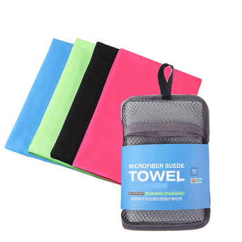 2020 New Custom Printed Logo Microfiber gym Sport towel With Zip Pocket Absorbent Sweat Quick Dry Soft Gym Towel