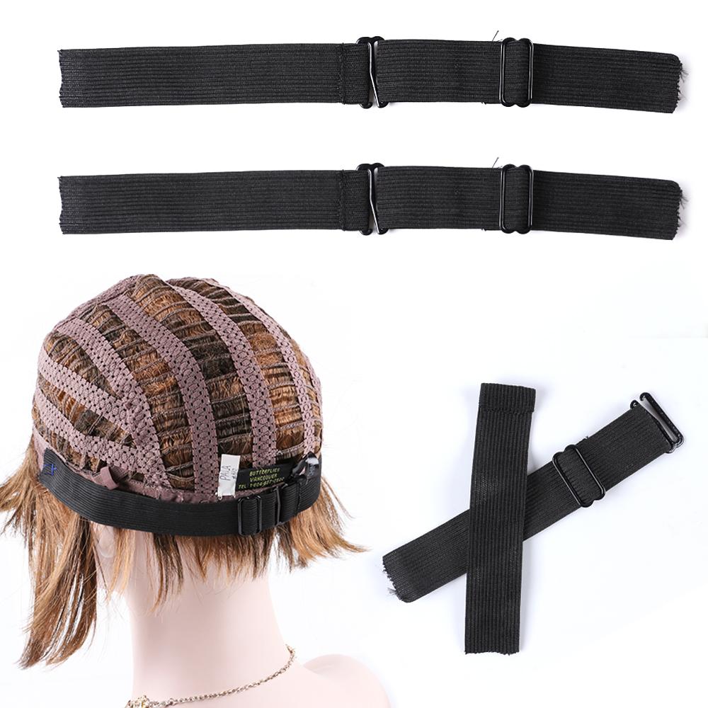 AliLeader 2.5cm Breedte Singels Zwarte Verstelbare Pruik Elastische Band Voor Maken Pruiken