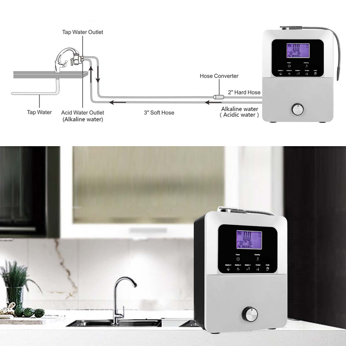 EHM Ionizer alkaline water machine from China for family-16