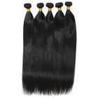 100% Weft Hair Extensions 100% Unprocessed Brazilian Kinky Straight Weave Coarse Yaki Virgin Hair Weft Kinky Human Hair Extensions