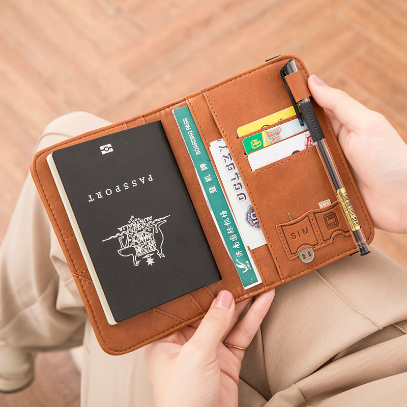 MIYIN 2020multifunctional travel PU leather passport cover card holder passport wallet for men and women rfid passport holders